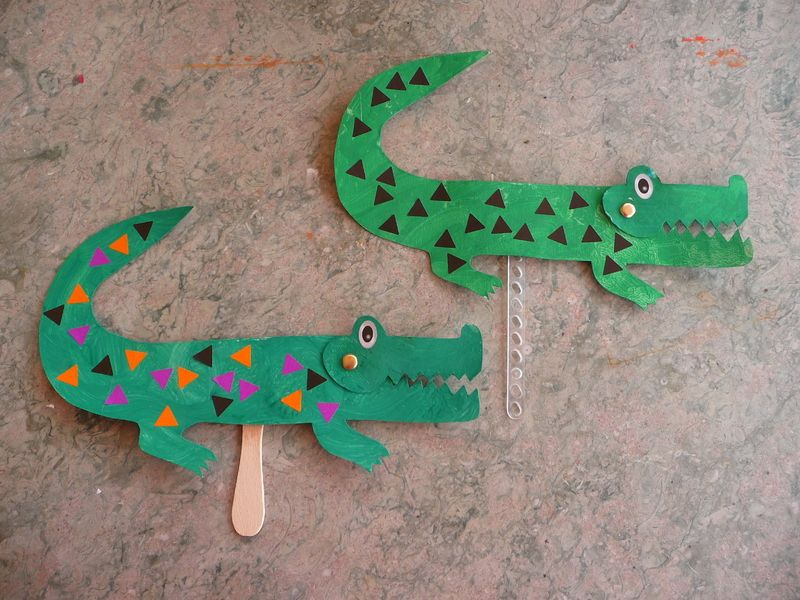 Le crocodile for Peinture crocodile