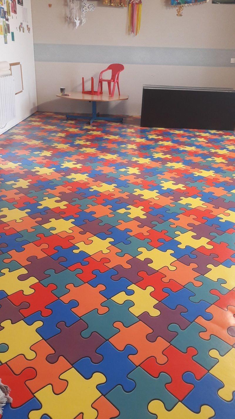 Le nouveau sol de la salle de jeux - Centerblog